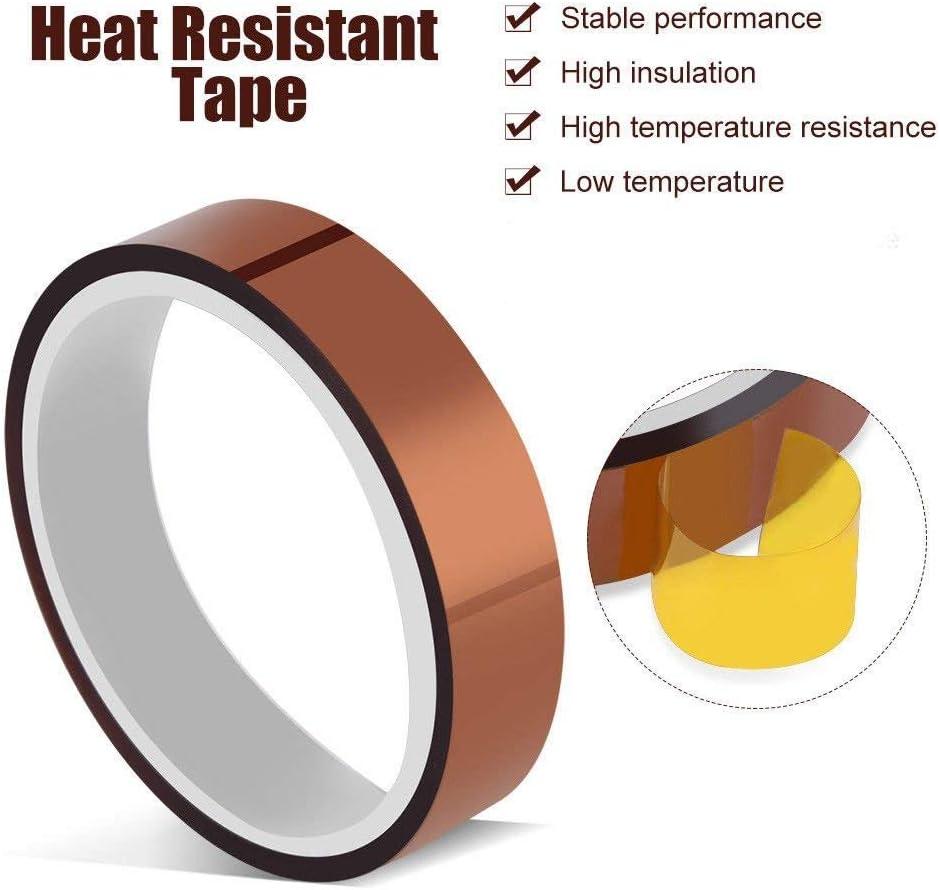 20mm Wide 10mm X 33m High Temperature Heat Resistant Tape Sublimation 5pcs