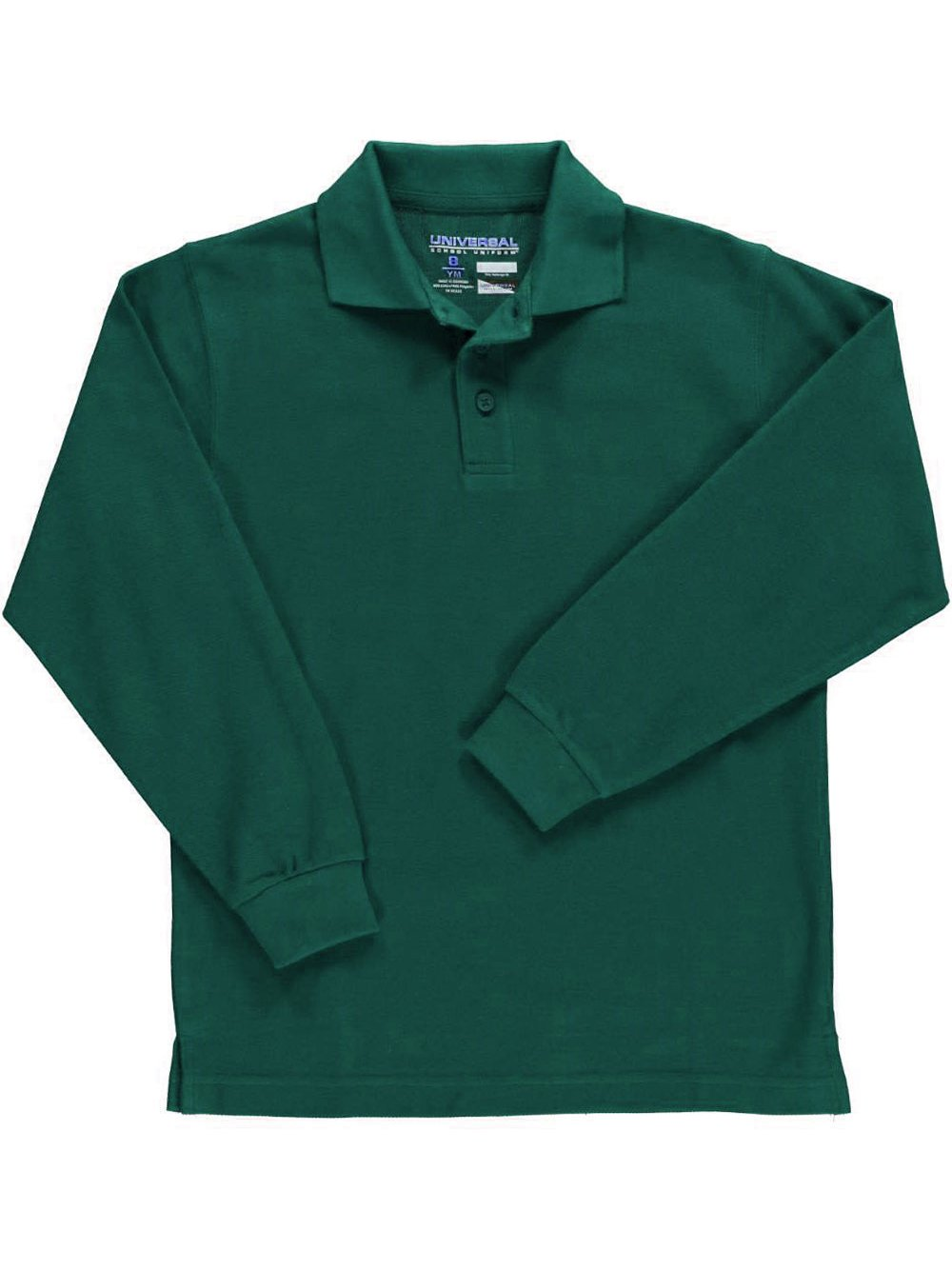 Universal Children's Long Sleeve Pique Polo Shirt - Many Colors Available