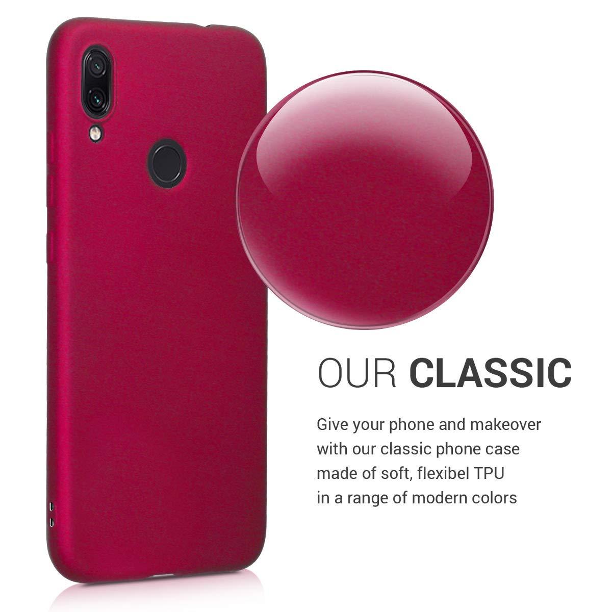 Violeta Note 7 Pro Carcasa de TPU para m/óvil Antideslizante y Acabado Rugoso kwmobile Funda para Xiaomi Redmi Note 7