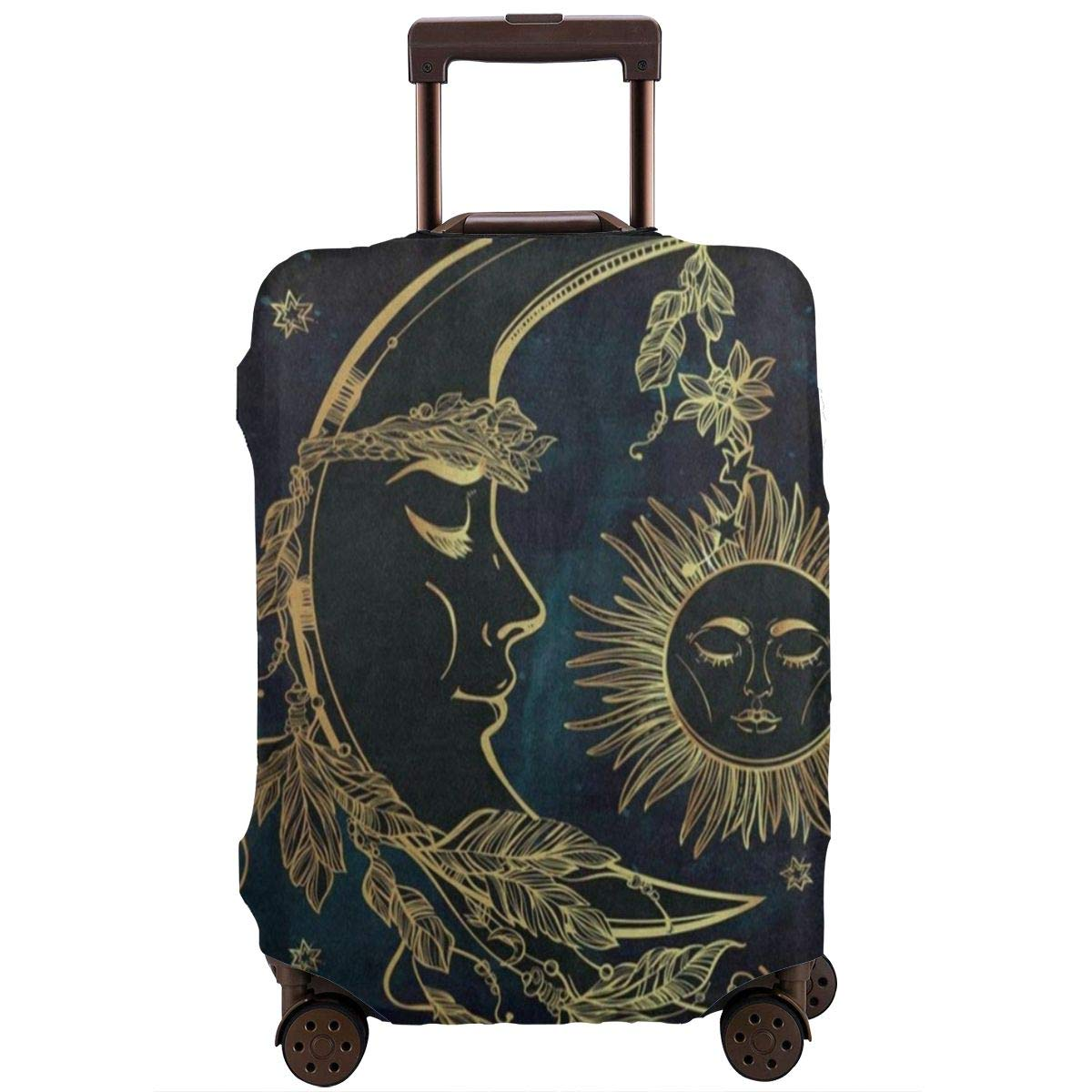 GIOVANIOR Night Mermaid Luggage Cover Suitcase Protector Carry On Covers