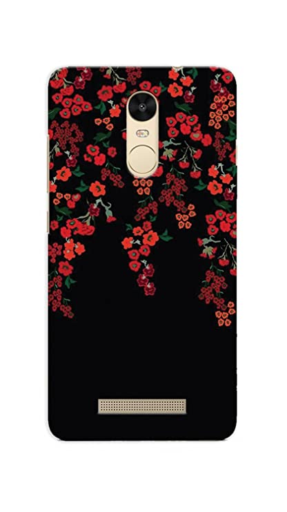 on sale 152be 80da5 Floral Print 3D Printed Redmi Note 3 Back Cover -90: Amazon.in ...
