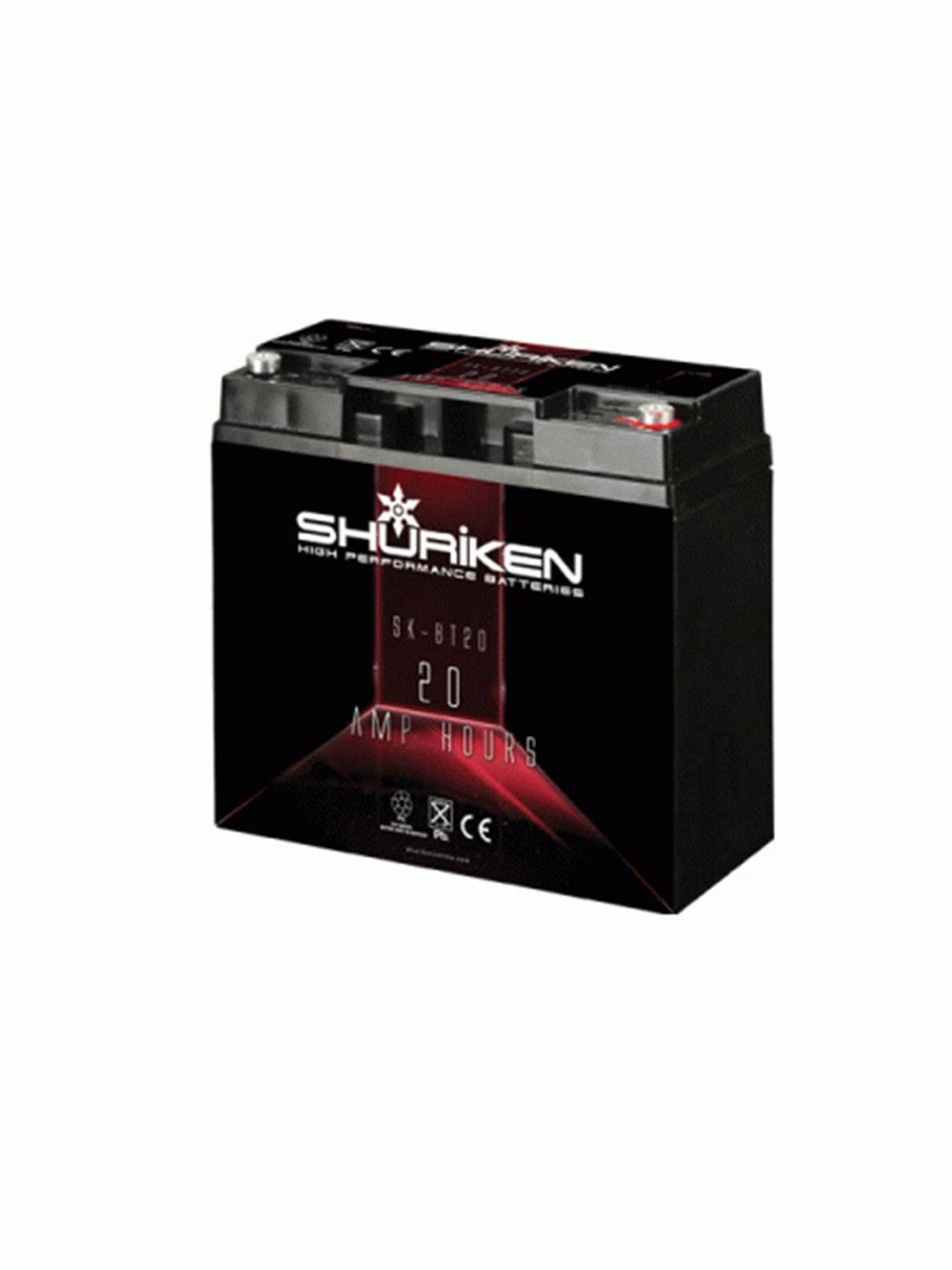 Shuriken SK-BT20 12-Volt High Performance AGM Power Cell Battery for Systems Up to 600-Watts