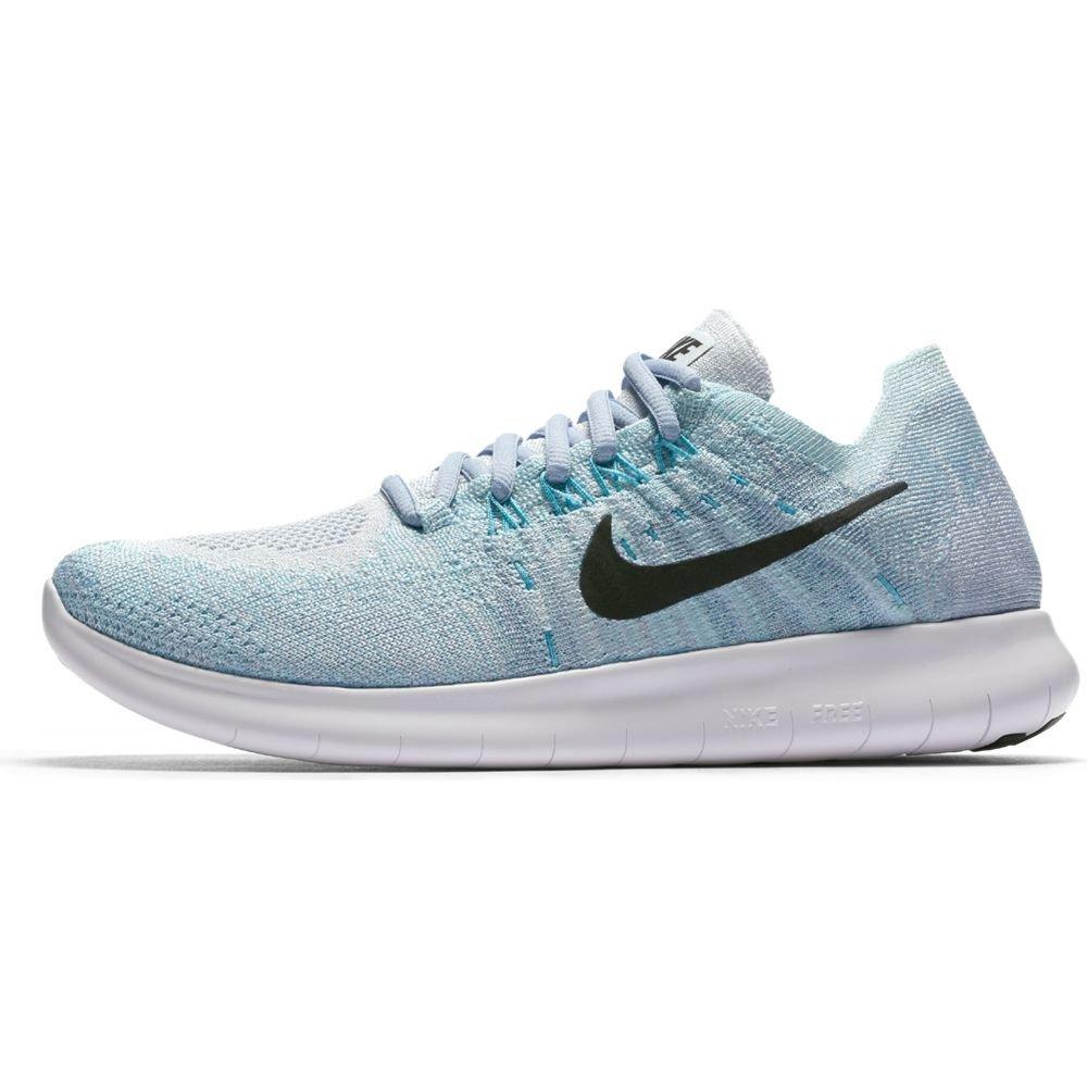 ef4257738235b Amazon.com | Nike Women's Free RN Flyknit Running Shoeq (8, Blue ...