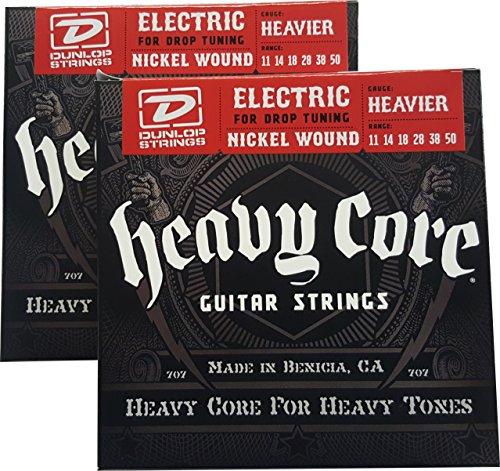 Dunlop Heavy Core Heavier Electric Guitar Strings 11-50 - 2 Pack (Guitar Big Core Strings)