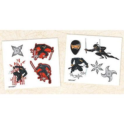 Amazon.com: Ninja Tattoos - Set of 8 (2 Sets): Toys & Games