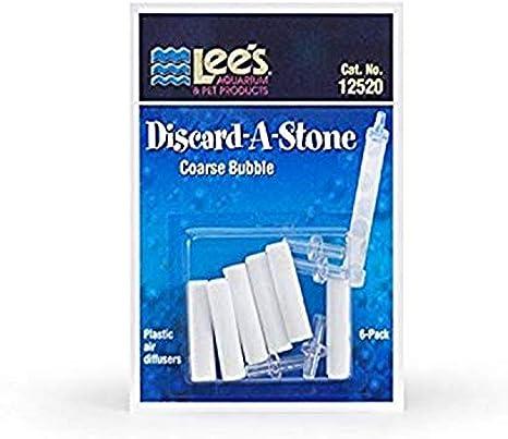 Fine Lees Pet Products ALE12521 6-Pack Discard a Stone Disposable Air Diffuser for Aquarium Pump