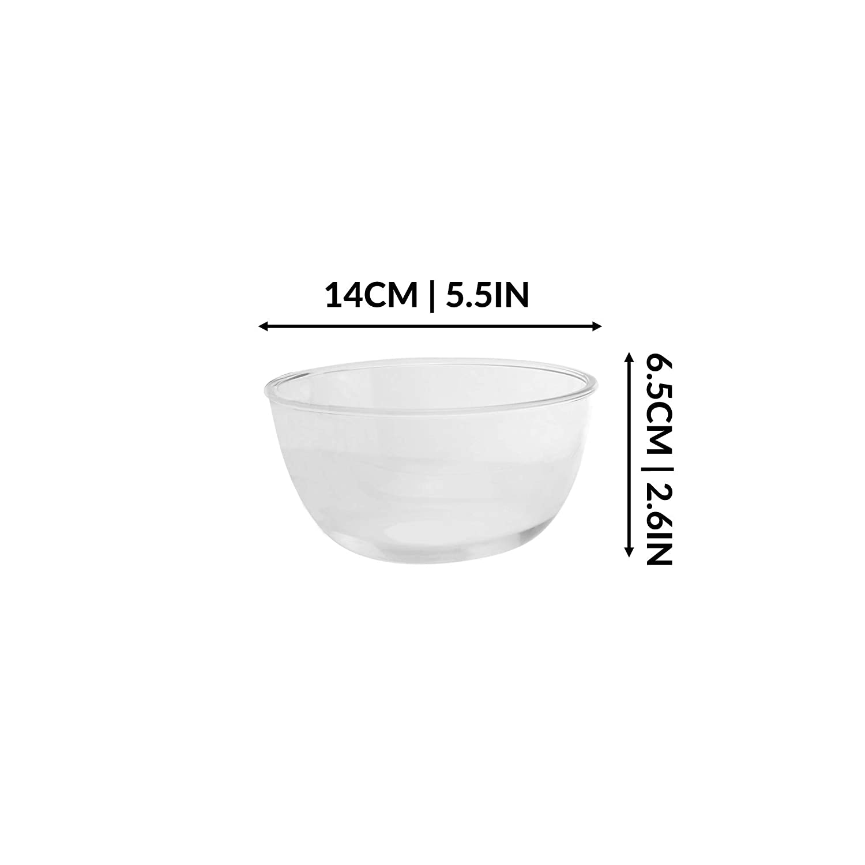Lavabile in lavastoviglie Ciotola del forno M/&W Set di 3 forno a microonde e forno Ciotole per vetro Ciotole per cottura e cottura in vetro spesso Ciotole da dessert