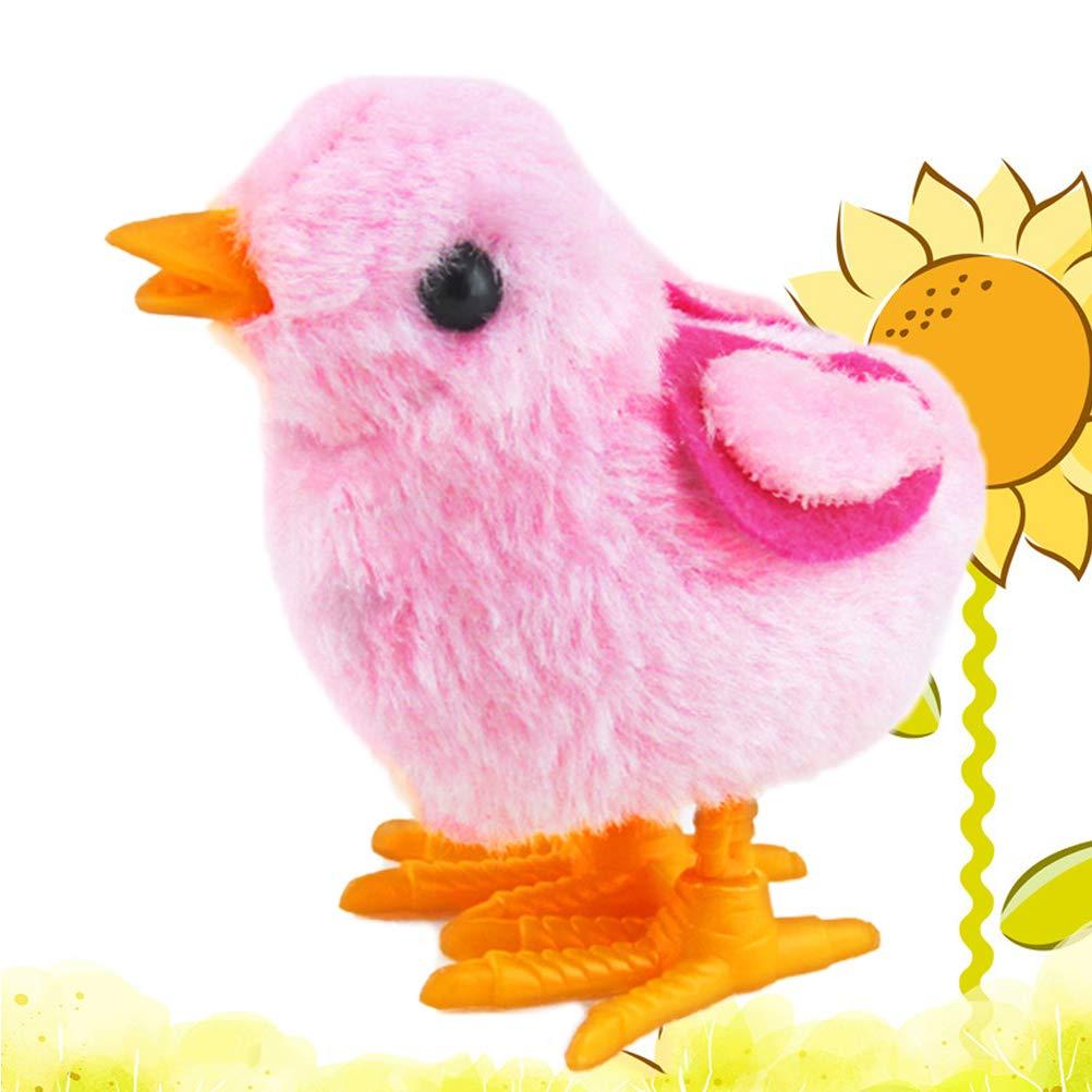 Color al Azar Amosfun Acabar con Juguetes Pascua Decoraci/ón Pollo Juguete de Pascua Wind-up Pollo Salta Pollitos de Peluche Juguetes Favores de Fiesta Juguete para ni/ños