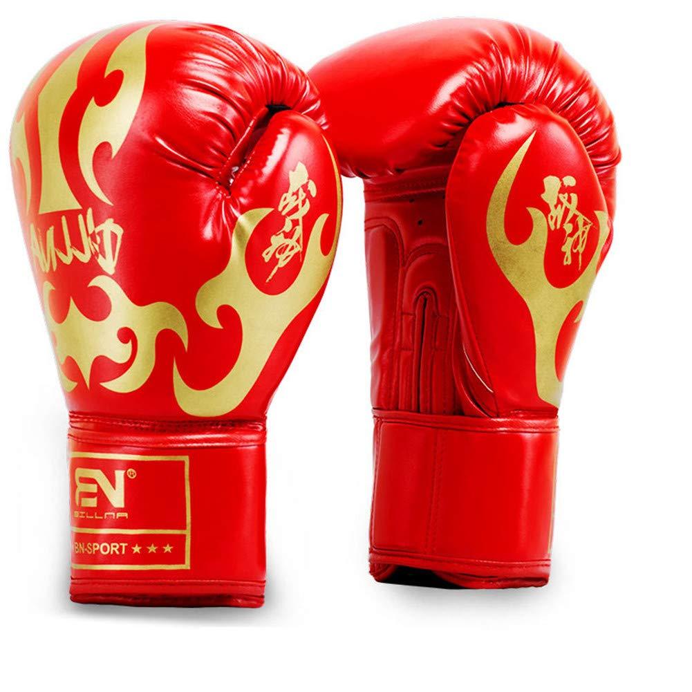 Adulti Guantoni Da Boxe, Fighting Sanda Guanti Da Combattimento, Sport Outdoor Ingranaggio Protettivo,red