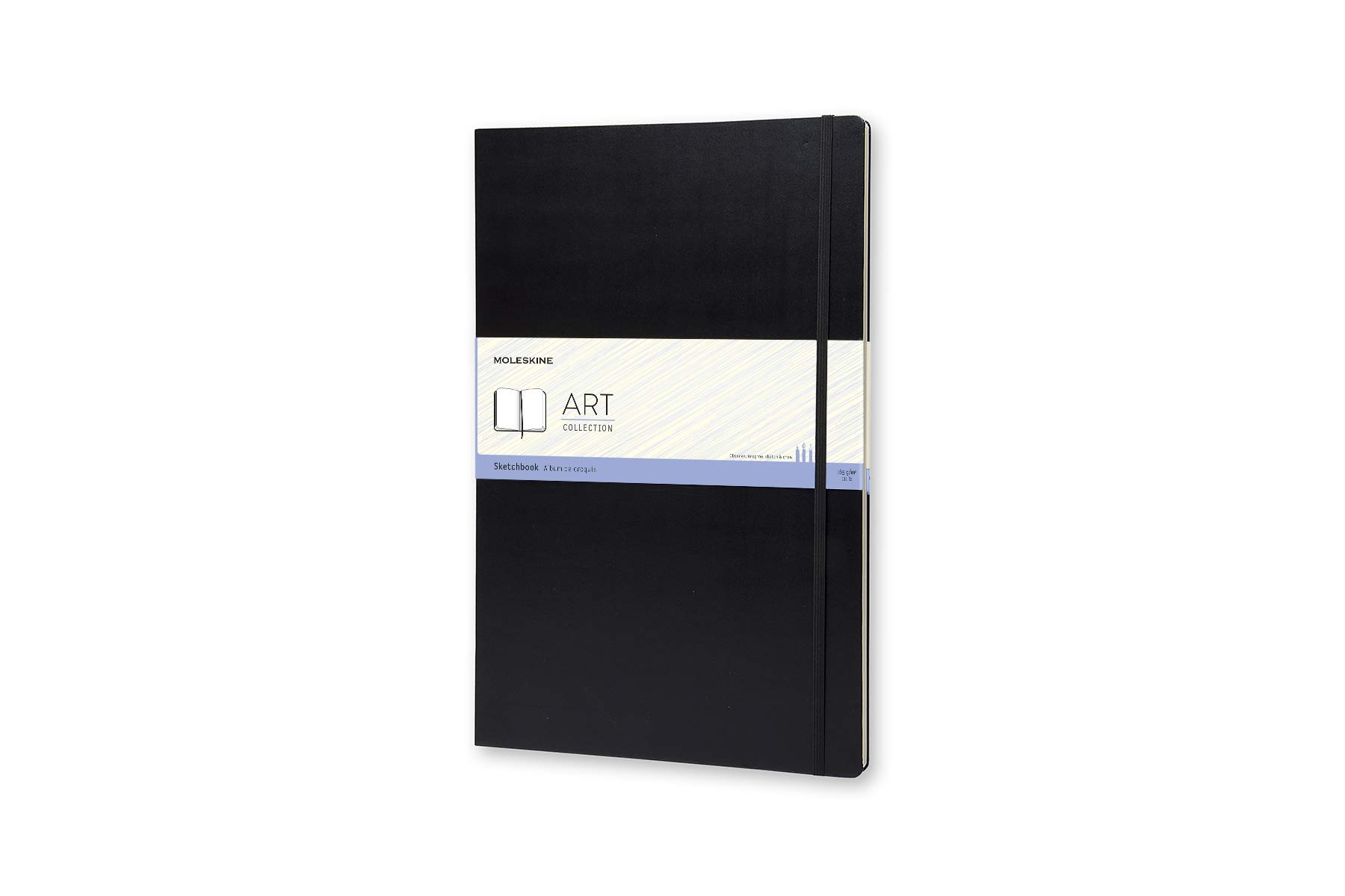 Moleskine Art Sketchbook, Hard Cover, A3 (11.75'' x 16.5'') Plain/Blank, Black by Moleskine