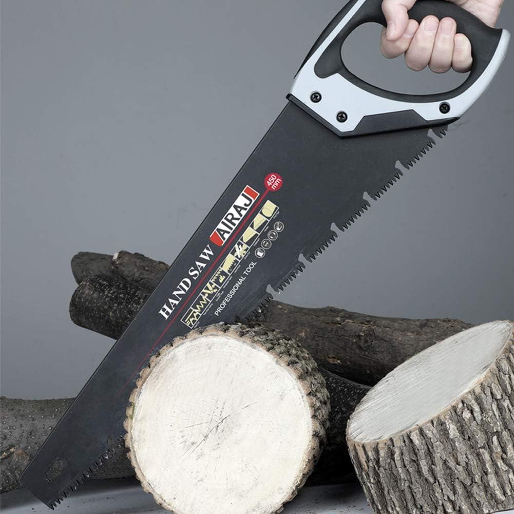 id/éale pour scier plaques de pl/âtre tuyau en plastique poign/ée ergonomique en caoutchouc scie /à main pour couper du bois couper AIRAJ 18 pouces Scie /Égo/ïne professionnelle jardiner