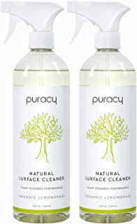 product image for Puracy Multi-Surface Cleaner, Organic Lemongrass, 50 Fl Oz (Pack of 2)