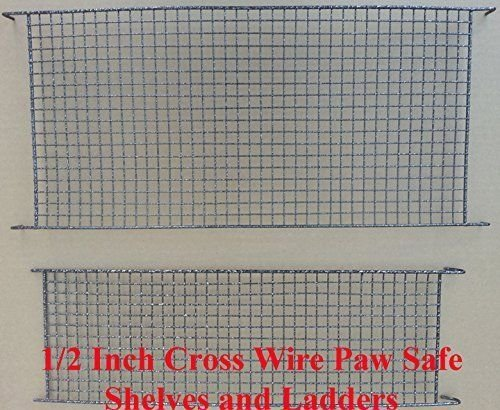 Two Size, 3 Level Ferret Chinchilla Sugar Glider Rats Animal Cage With 1/2 Inch Cross Shelves and Ladders by Mcage (Image #2)