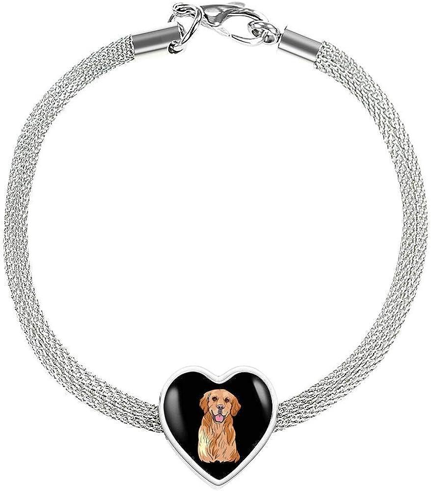 for Dog Lovers Weezag Golden Labrador Retriever Pendant Necklace Bangle