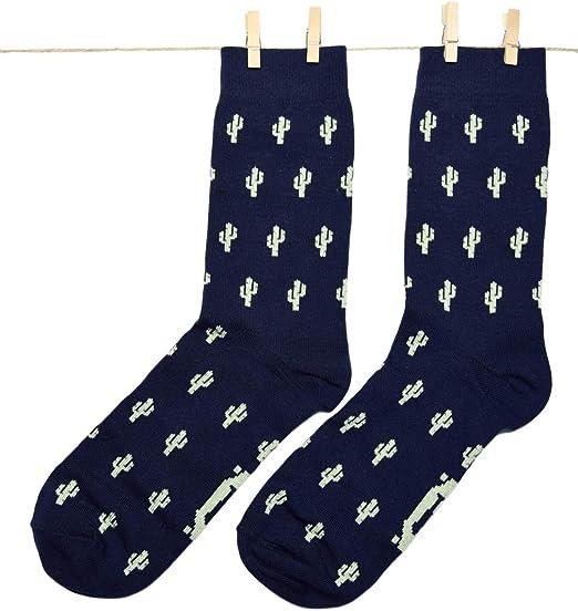 Roits Calcetines Cactus Azul 41-46 - Calcetines Originales Hombre ...