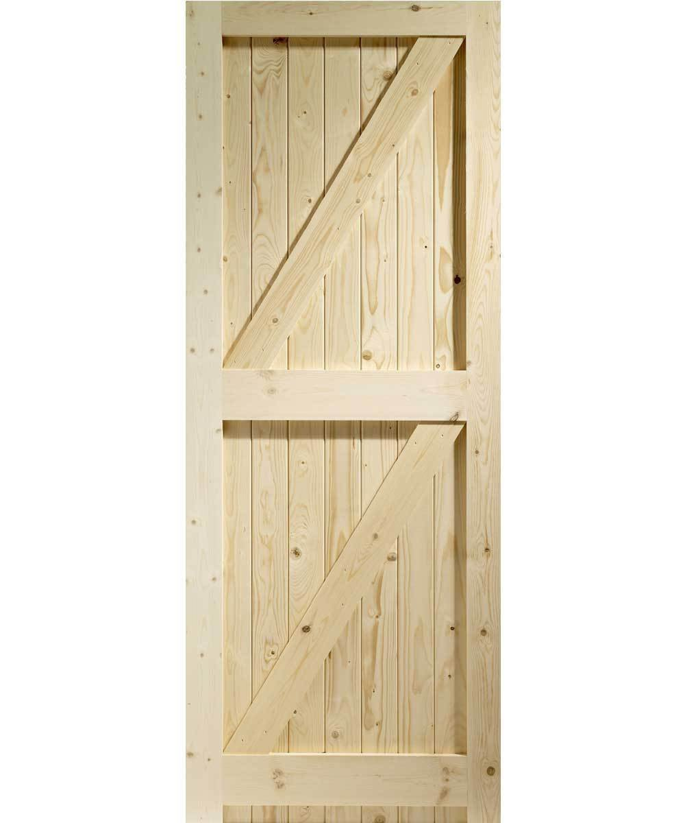 External Pine Framed Ledged & Braced Garden Gate - Superior Strength (1981 x 838mm (33