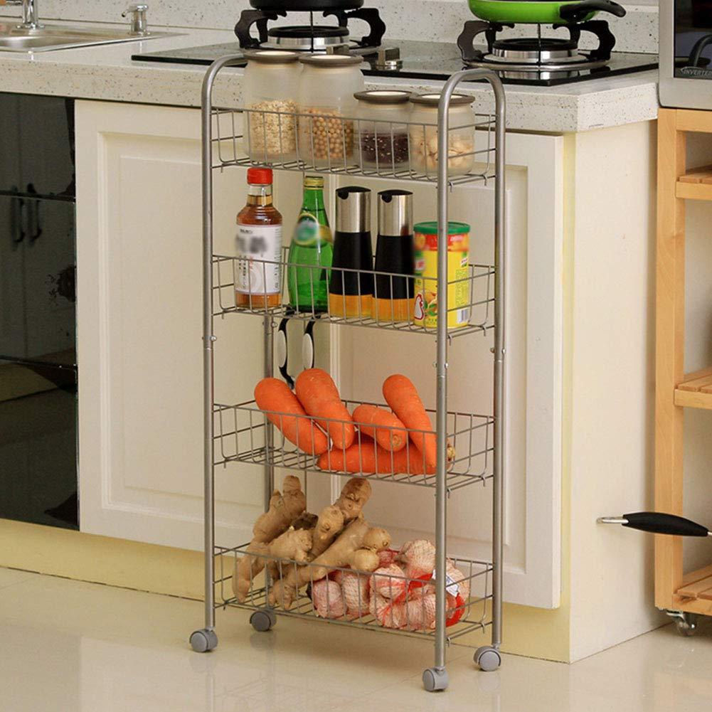 Shelf Storage Racks Storage Basket Shelf Baskets Oven Stand Kitchen Landing Four Floors It Can Move Finishing Rack Storage Rack ZHAOYONGLI by ZHAOYONGLI-shounajia (Image #3)