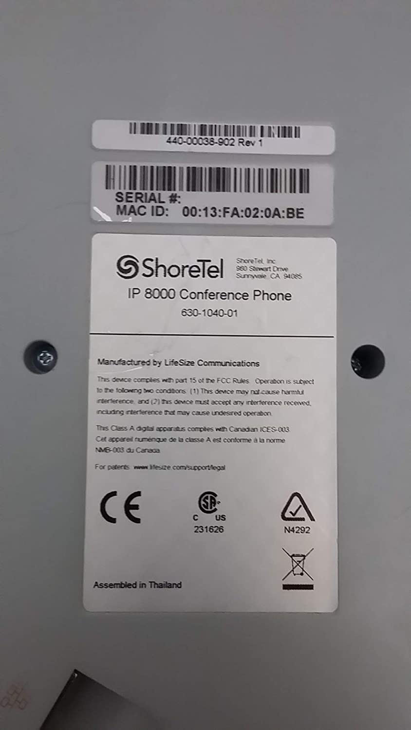 Amazon.com : ShoreTel ShorePhone IP 8000 - conference VoIP phone (Certified Refurbished) : Office Products