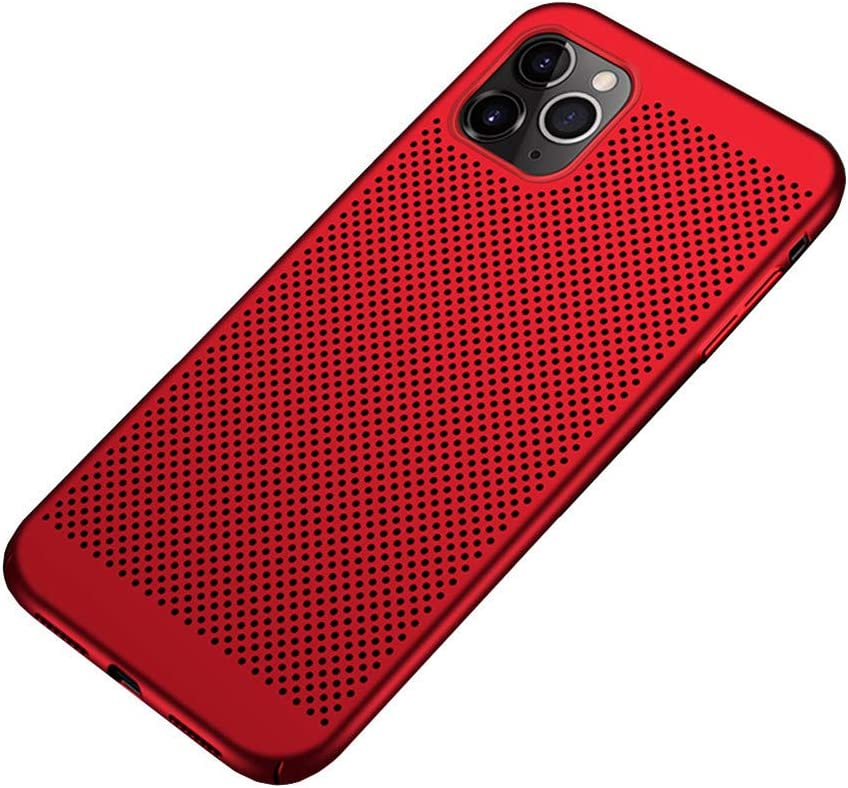 Slim Fit iPhone 11 Breathable Case, Ultra-Thin [Skin Touch Feel][Heat Dissipating] Anti-Fingerprint/Skid/Fade Protective Cooling PC Back Cover Case Compatible with iPhone 11 6.1 inch(2019), Red