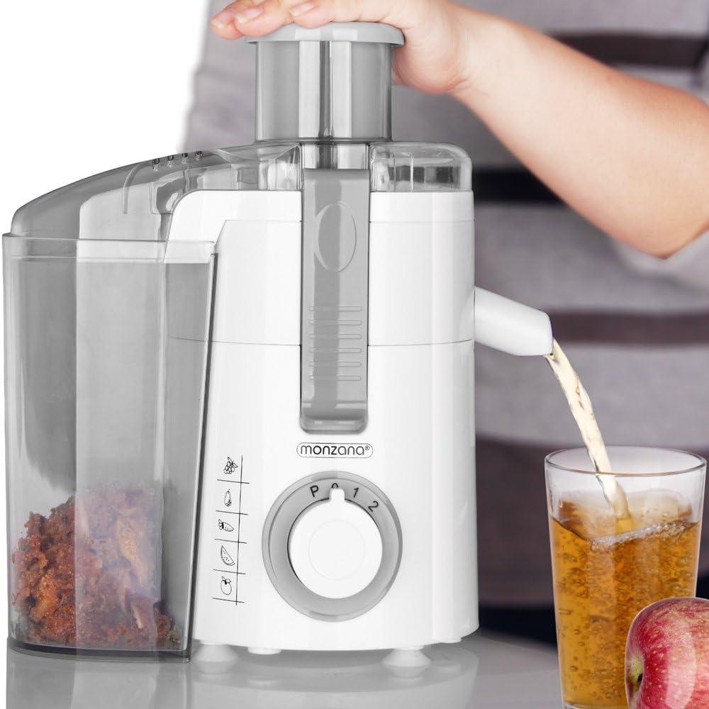 Monzana® Acero inoxidable jugo de frutas Frutas Prensa Exprimidor ...