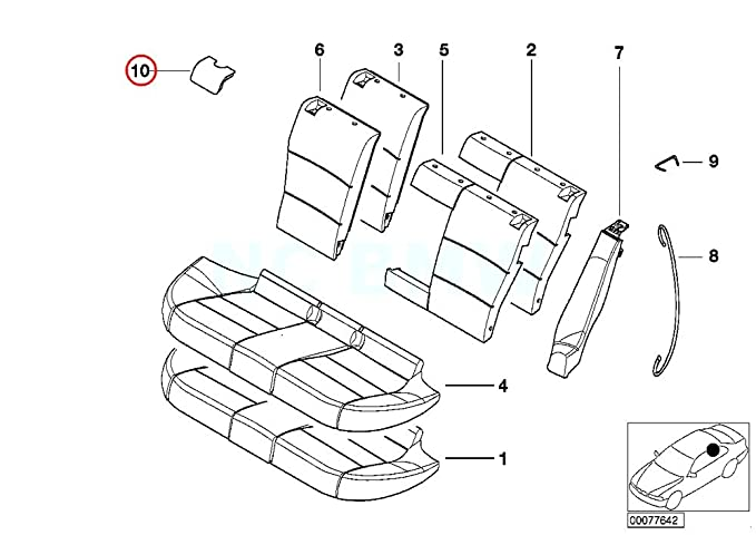 Amazon Com Bmw Genuine Cover Isofix Automotive