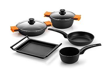 Bra Efficient Bateria De Cocina 5 Piezas Antiadherente Apta Para