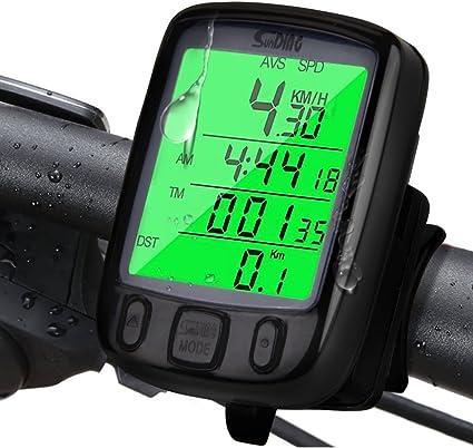 RETYLY Compteur de Vitesse Grand /écran 2.8 Ordinateur de V/élo sans Fil Odom/ètre Ordinateur Lumineux de Cyclisme Imperm/éable avec Support