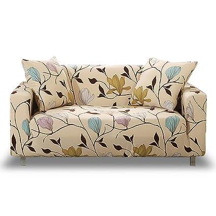 HOTNIU Funda Elástica de Sofá Funda Estampada para sofá Antideslizante Protector Cubierta de Muebles (Cuatro Plazas, Modelo_MLK)