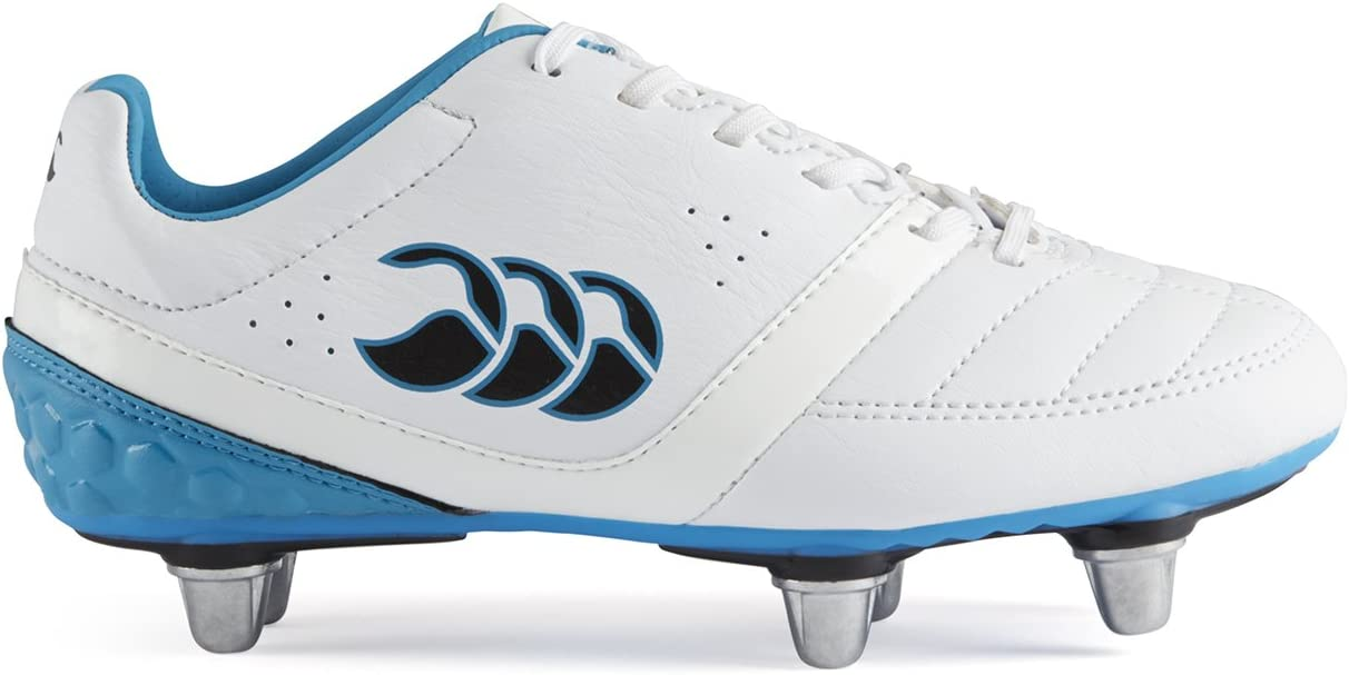 (13K UK) - Phoenix Club 6 Stud Kids Rugby Boots - 白い