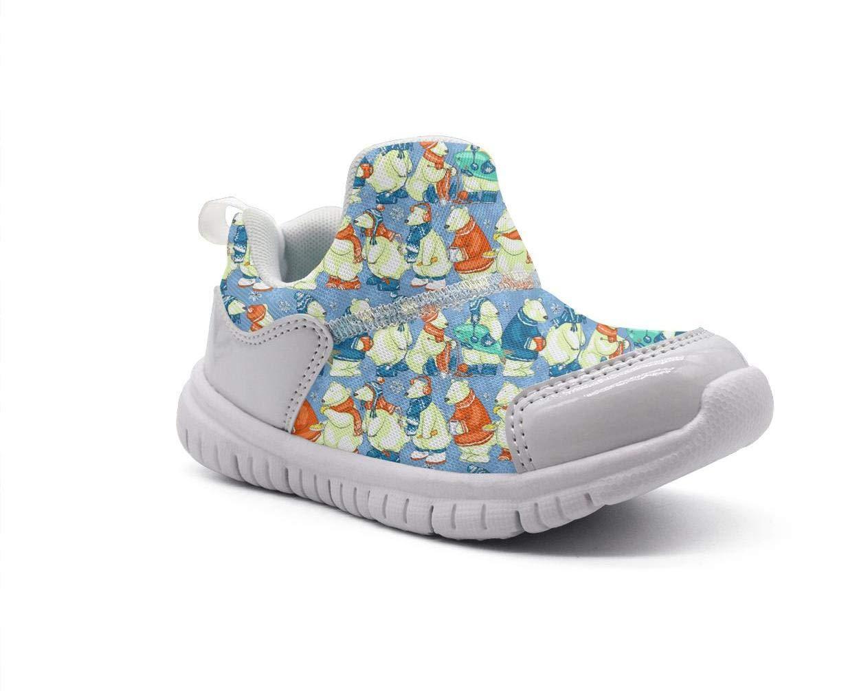 ONEYUAN Children The Polar Bear Habitat Blue Kid Casual Lightweight Sport Shoes Sneakers Running Shoes