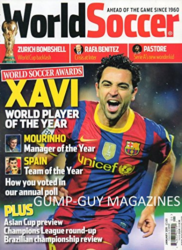 World Soccer UK January 2011 Magazine XAVI WORLD PLAYER OF THE YEAR Young Player Of The Year: Thomas Muller