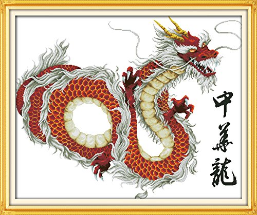 Happy Forever Cross Stitch Animals, Chinese dragon