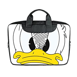 INSTALL AND EASY TO CARRY Wear& Slim &Dapper Donald Duck Custom Waterproof Nylon Bag for Laptop 15 Inches(Twin sides)