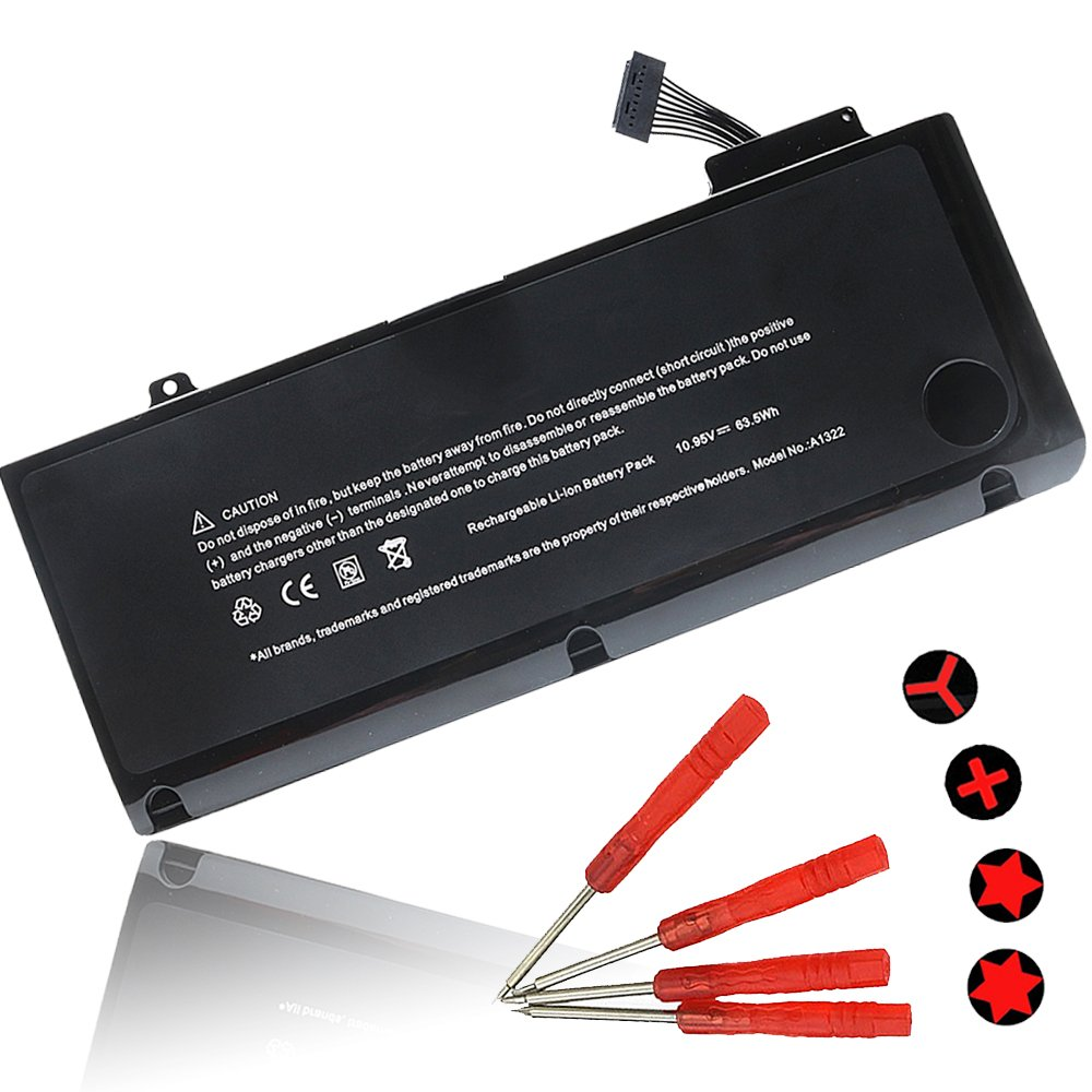 New Replacement A1278 A1322 Laptop Battery for Apple 2012 2011 2010 2009 MacBook Pro 13 inch battery fits MB990LL/A MB991ll/A MC374ll/A MC375LL/A MC700ll/A MD101LL/A MD102LL/A -- 12 Months Warranty