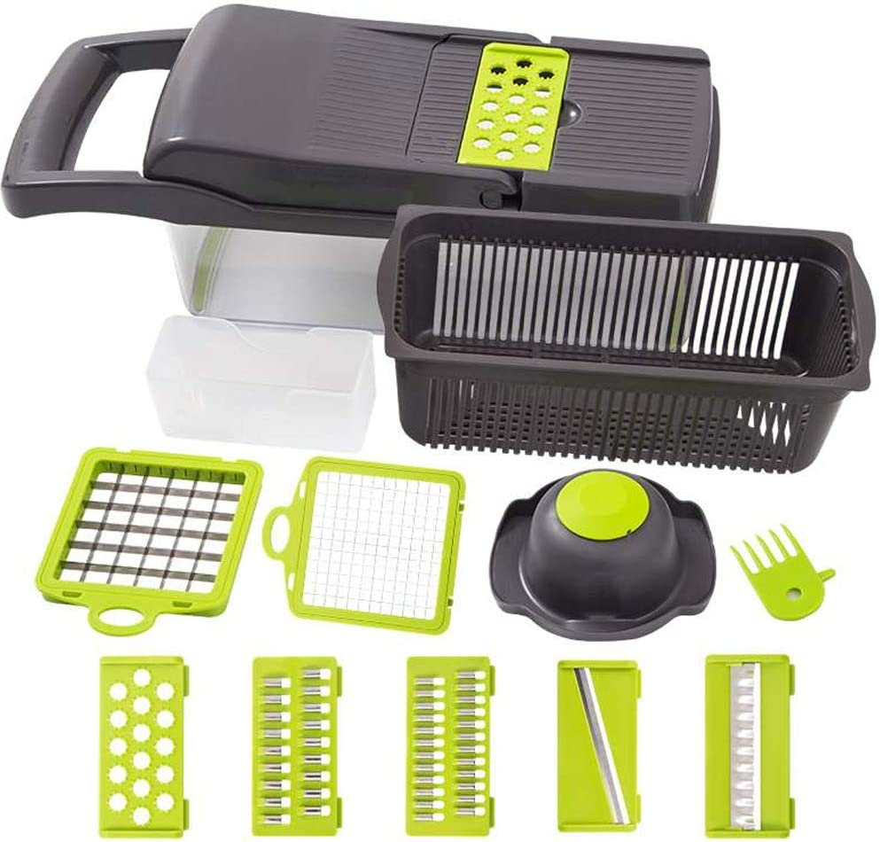 Vegetable Chopper, Onion Chopper Vegetable Slicer, 12 in 1 Food Choppers and Dicers, Veggie Chopper, Kitchen Vegetable Cutter Fruit Salad Chopper