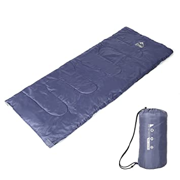 Heth Saco de Dormir de Sobre, abrigado, Impermeable y Ligero con Bolsa de Transporte