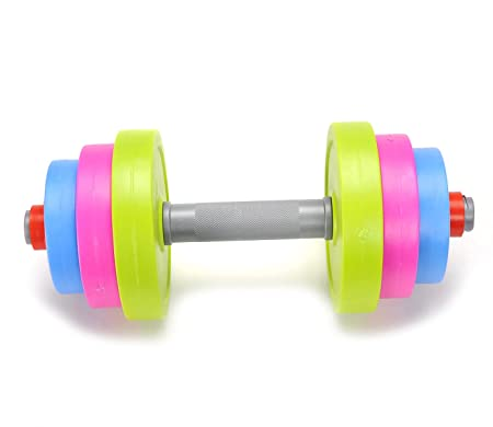 PowerTRC Fun and Colorful Dumbbell for Kids – Adjustable Weights – Fill weights with water or sand – Beach Toys