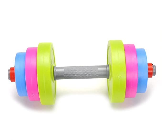Amazon.com : PowerTRC Fun and Colorful Dumbbell for Kids - Adjustable Weights - Fill weights with water or sand - Beach Toys : Sports & Outdoors