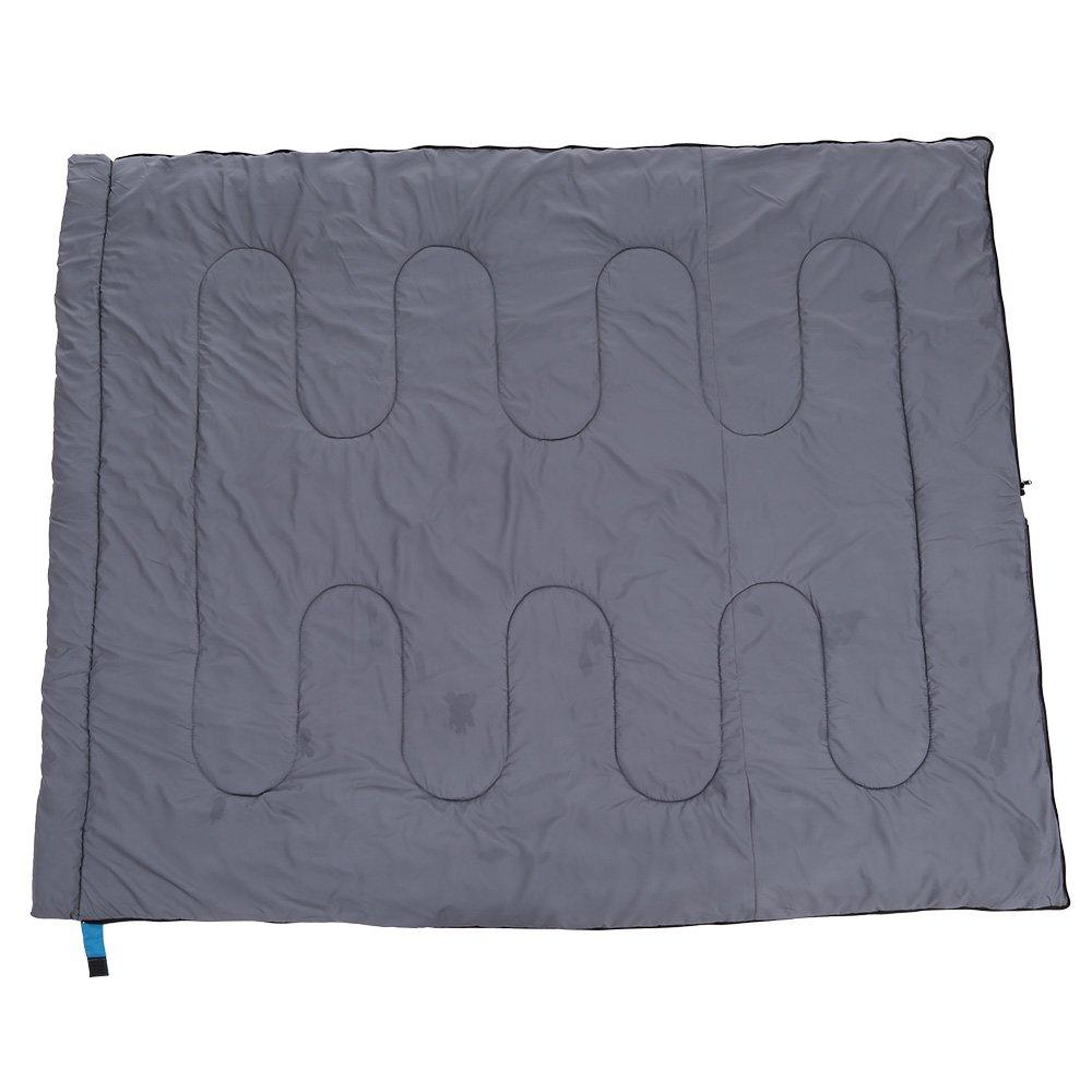 TOMSHOO Saco de Dormir T/érmico de Adulto Multifunci/ón Sleeping Bag de Forma Envolvente 200X80CM