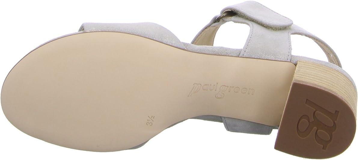 Paul Green Damen Sandaletten 6086 009 beige 264906: Amazon