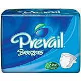 Prevail Breezer Adult Brief, Large 45-58 Blue, 72 Case