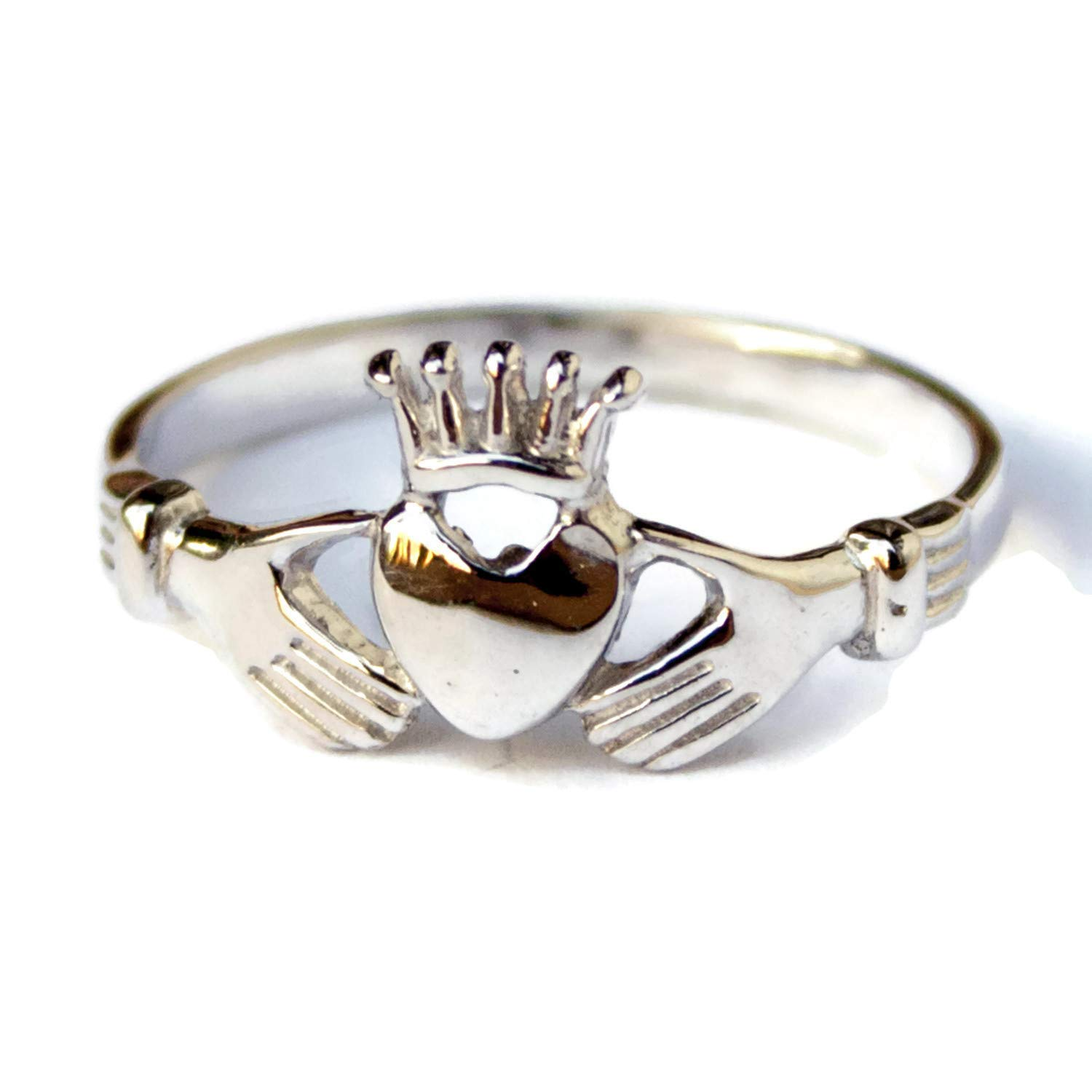 Irish Claddagh Ring 925 Sterling Silver Jewelry Promise Celtic Rings for Women Friendship Love Band