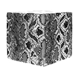 Grouchy Goose Reptile Print Pewter Pouf