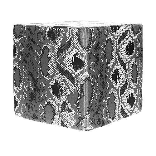 Grouchy Goose Reptile Print Pewter Pouf by Grouchy Goose