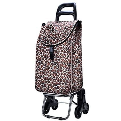 Cesta Carro Dolly Subir escaleras, Azul carrito plegable, Carrito de arrastre with6 ruedas,