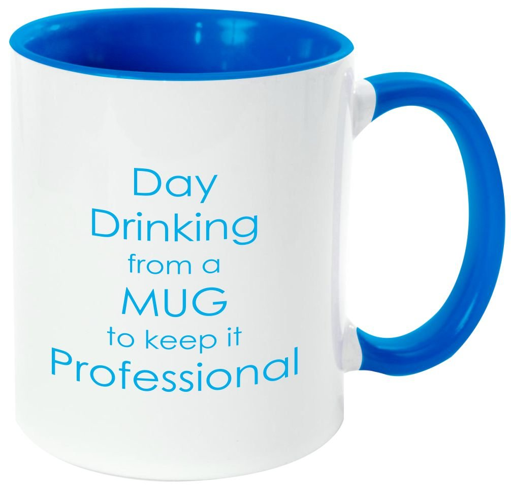 "Rikki Knight Funny Saying ""ワインは定数Proof "" – 面白い引用デザイン11オンスセラミックコーヒーマグカップ Light Blue DIS-mugs-LTBLUE-3786 B06XWVJKVC Light Blue|daydrinking daydrinking Light Blue"
