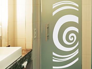 Glasdekor Folie Fensterdekor für Badezimmer Kreise Spirale Rund ...