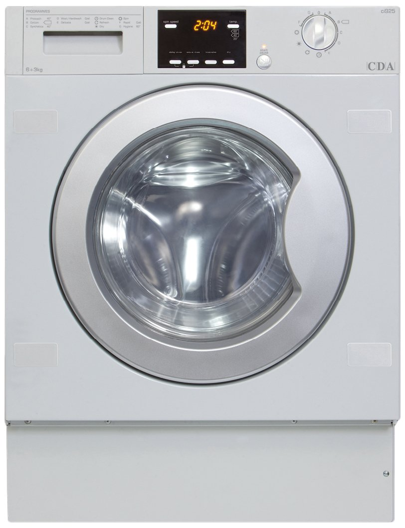 Built In Washer Part - 40: CDA CI925 1200rpm 6kg 11 Program Integrated Built In Washer Dryer:  Amazon.co.uk: Large Appliances