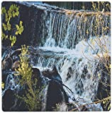 3Drose 8 X 8 X 0.25 Inches Mouse Pad Fast Moving Waterfall Flowing Over Rocks at Baker Dam in Southern, Utah with Hues of Blue and Green (mp_49677_1)