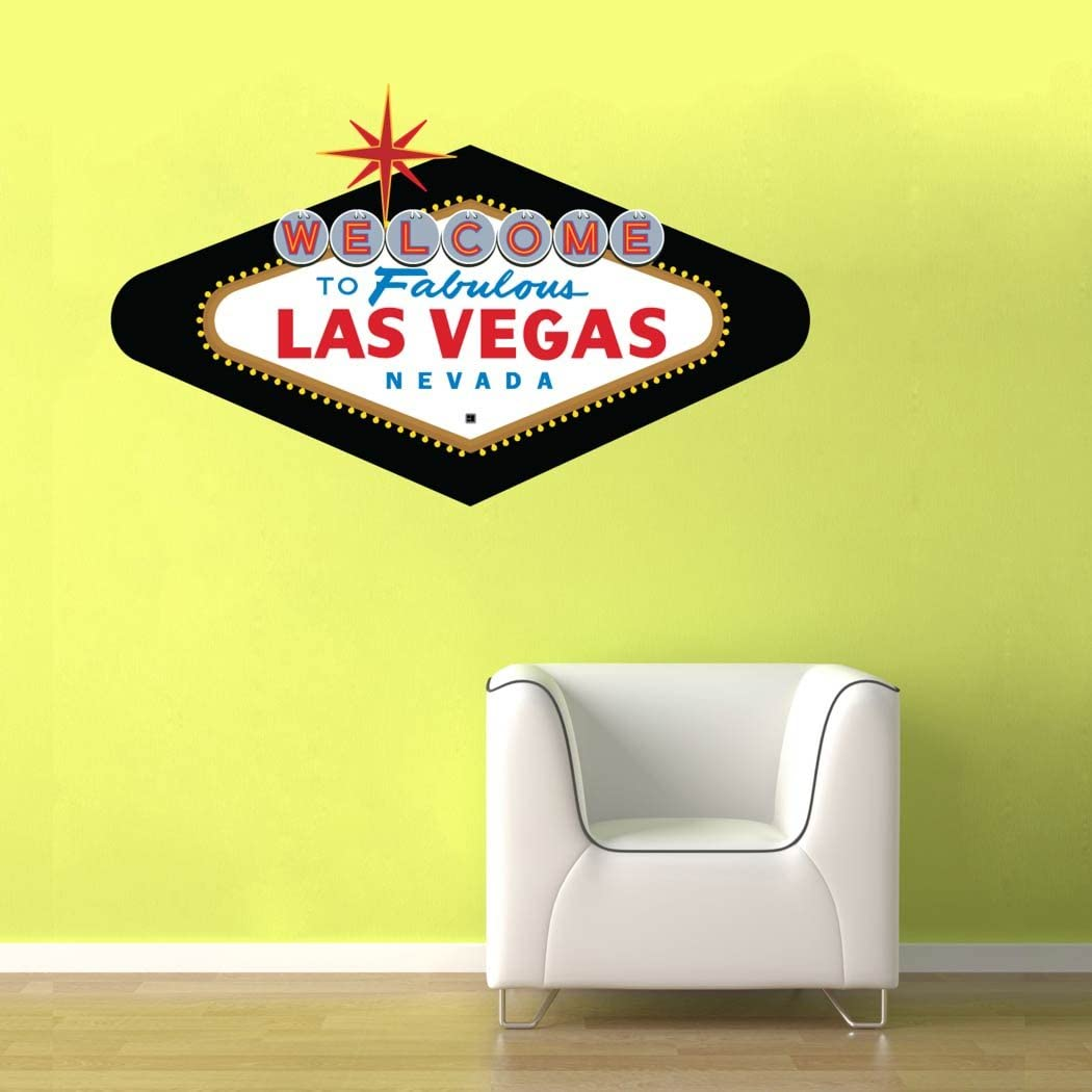 Welcome to Fabulous Las Vegas Sign Classic - Room Décor Man Cave Basement Office Wall Decal - 15